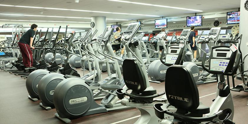 Workout facilities provide a place to exercise after work.