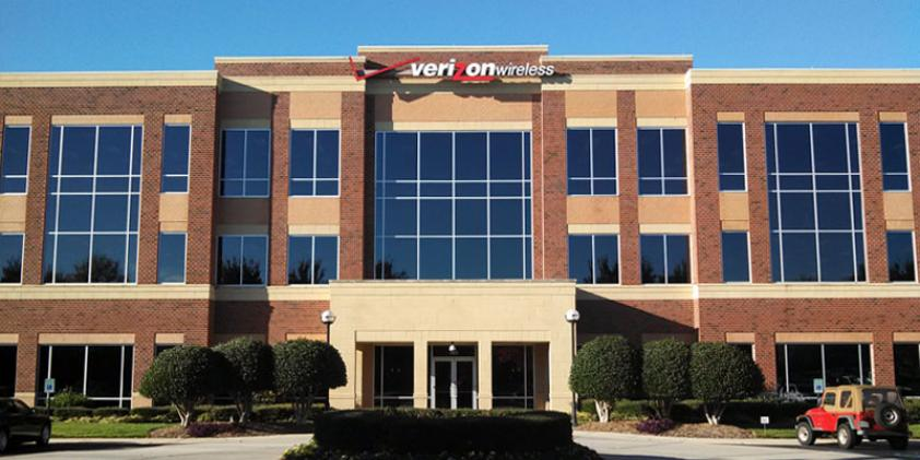 The Verizon offices in Greenville.