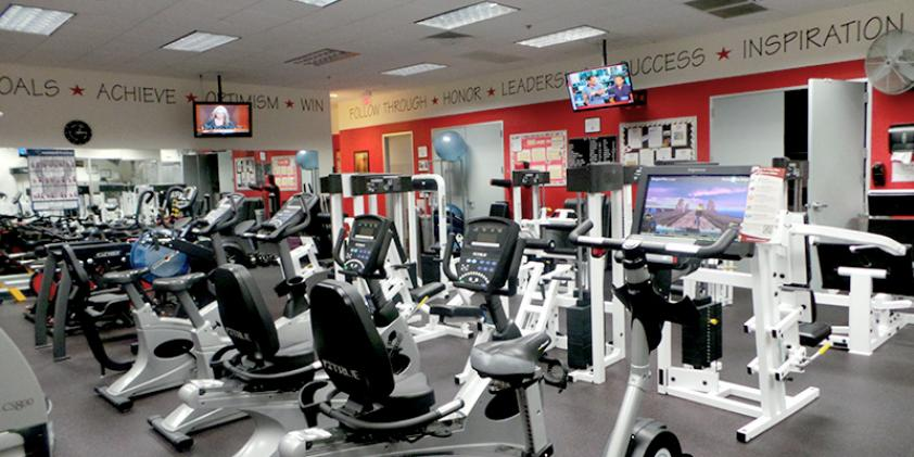Stay in shape by taking advantage of our workout facilities.