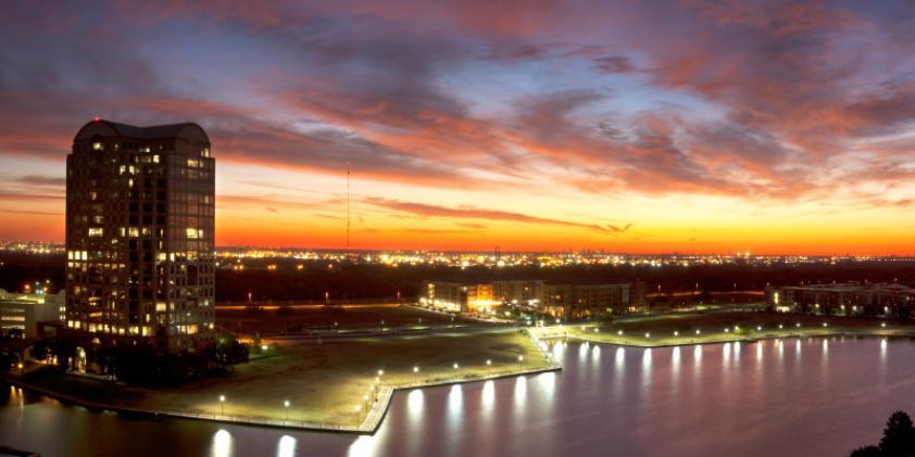 Irving at dusk