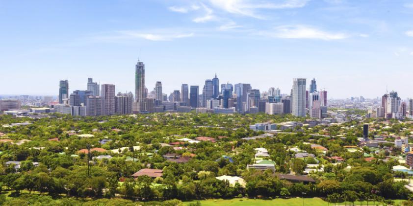The downtown Manila skyline
