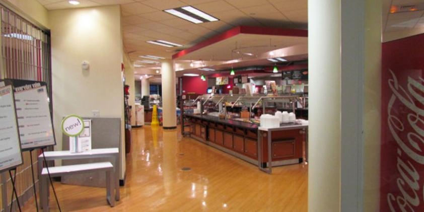 Get a snack or meal in our cafeteria.