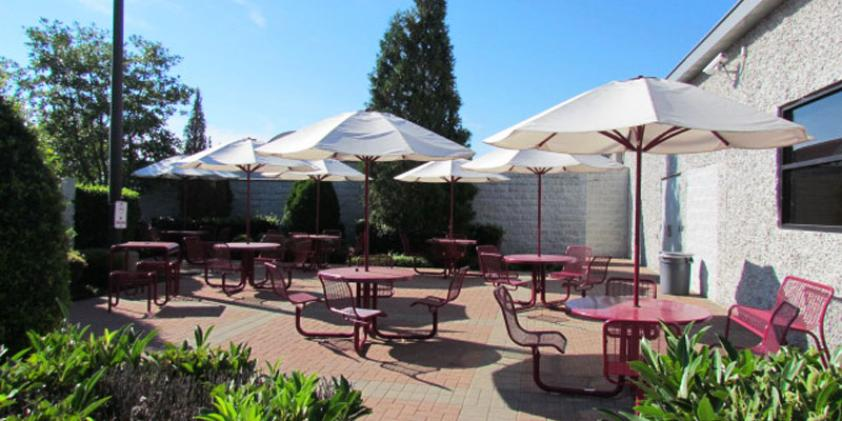 Our patio gives you a place to get some fresh air.
