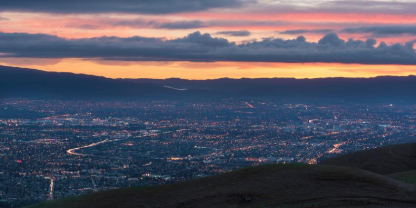 Beautiful San Jose at dusk