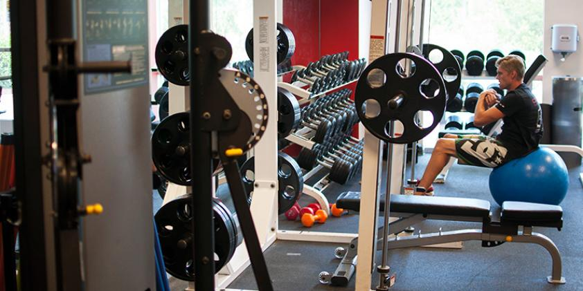 Take advantage of our workout facilities to stay in shape without having to drive to a gym.