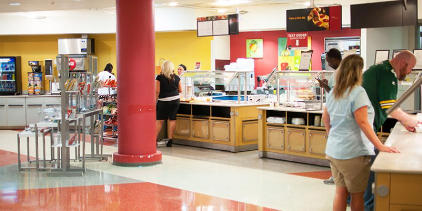 Our cafeteria is a great place to pick up a meal or snack.