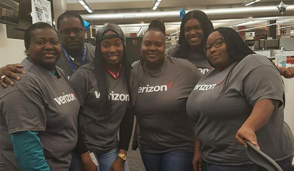 Hand in hand telethon Verizon employees