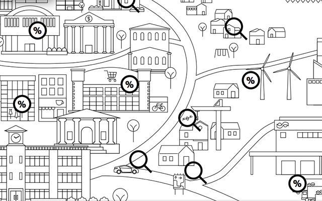 Infographic of city