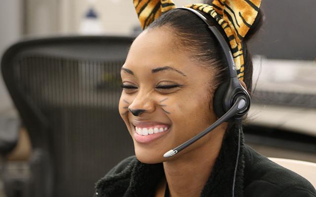 Photo of Call Center Employee