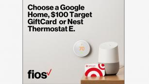 Choose a Google Home, $100 Target GiftCard or Nest Thermostat E