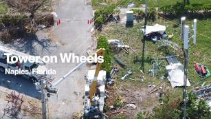 Image of Cell Tower on Wheels