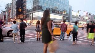 Pedestrian on streets