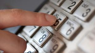 Dialing on a telephone keypad