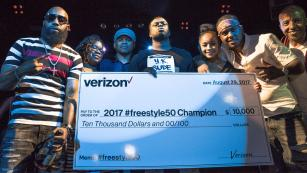 Y.K Supe was crowned the winner of Verizon's #freestyle50 challenge