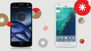Moto Z force and Google Pixel phones