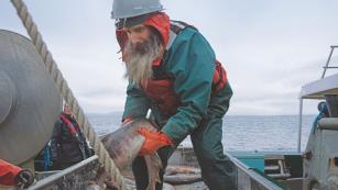 Image of man on fishing boat