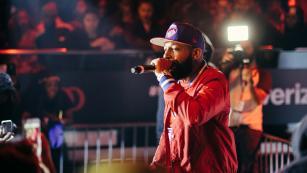 Tre' Da Kid rapping