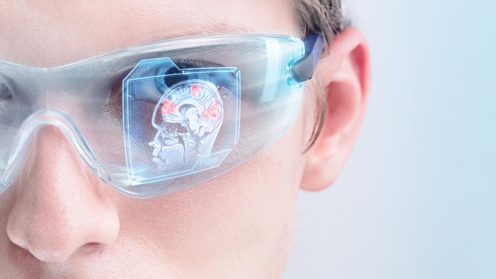 Doctor wearing protective eyeware