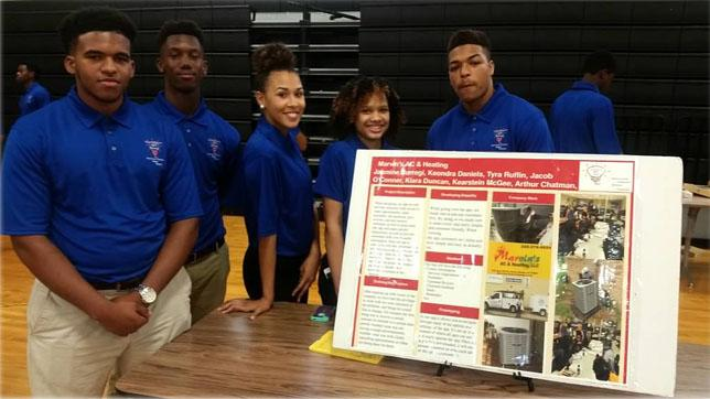 High school students participate in Arizona State University and the Verizon Foundation Innovation through Design Thinking Program