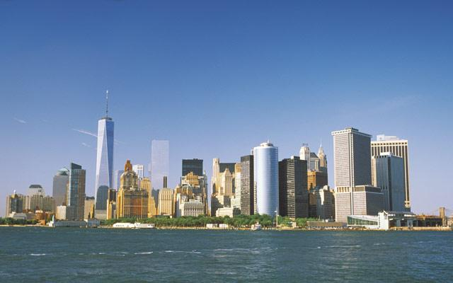 New York City's downtown skyline
