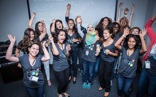 Make Way for Verizon's First Graduating Class From Girls Who Code