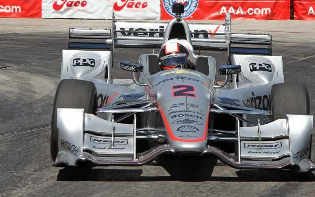 """No. 2 Team Penske Verizon/Hawk/PPG Dallara/Chevrolet driven by Juan Pablo Montoya at The Long Beach Grand Prix"" photo credit: courtesy of Verizon IndyCar Series"