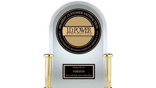 J.D. Power ranks Verizon Enterprise highest in customer satisfaction for large enterprise wireline services in U.S.