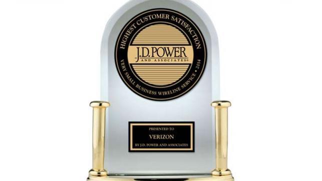 JDPower Verizon trophy