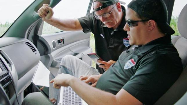 Storm chaser's network connection is his lifeline