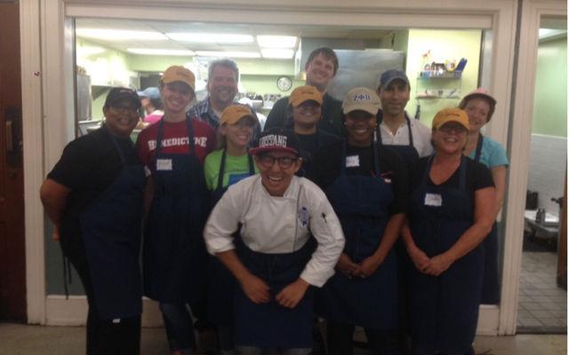 Verizon volunteers at Miriam's Kitchen in Washington DC.