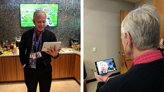 Verizon and KT showcase Samsung 5G Tablets, conduct video call