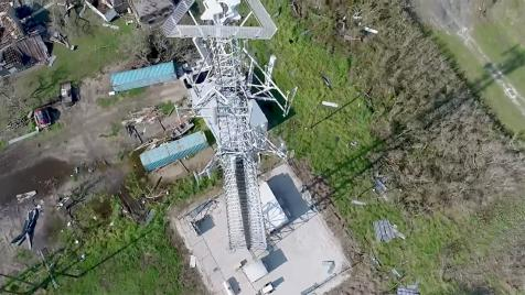 Watch Video about Verizon inspects cell towers with drones in the aftermath of Hurricane Harvey