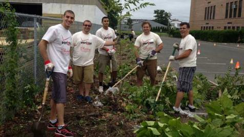 Verizon Interns During Volunteering in Belmar After Superstorm Sandy