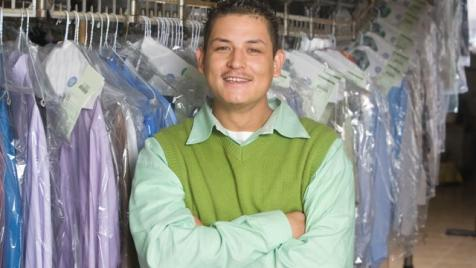 Green small business owner