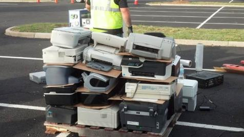 Electronics recycling stack