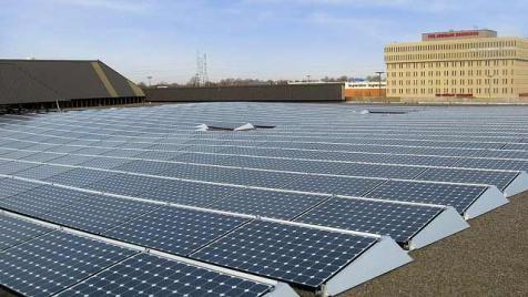Solar panels atop Verizon facility in New Jersey