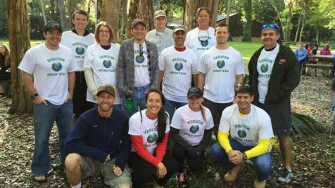 Verizon Green Team at Hillsborough River State Park outside Tampa, Fla.