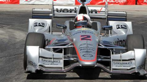 """No. 2 Team Penske Verizon/Hawk/PPG Dallara/Chevrolet driven by Juan Pablo Montoya at The Long Beach Grand Prix"" photo credit: courtesy of Verizon IndyCar Series"
