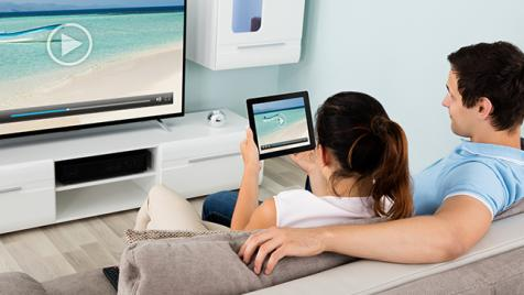 Cord cutters using a tablet and Google Chromecast to stream to their TV