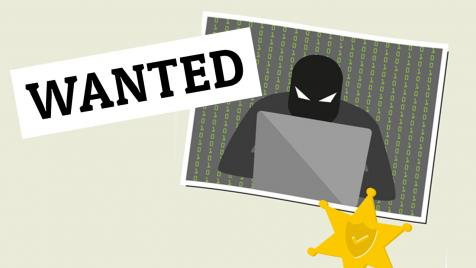 wanted poster of a hacker