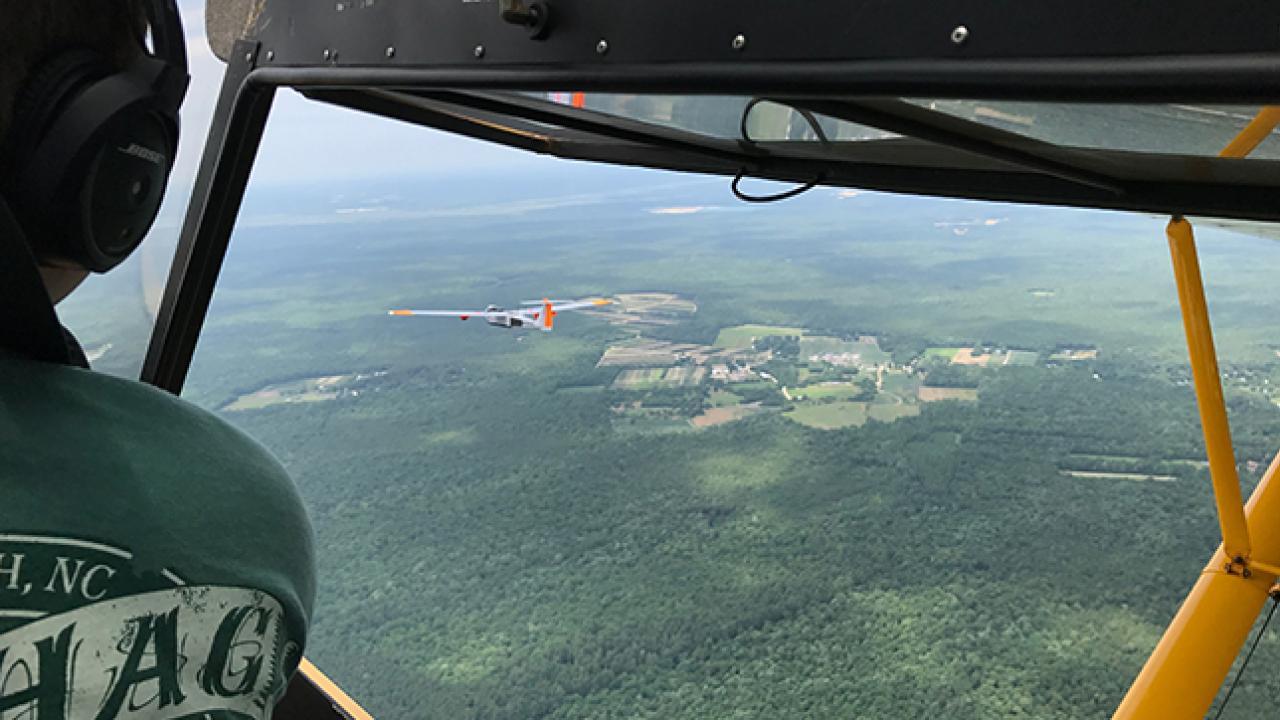 Drone Chase Plane