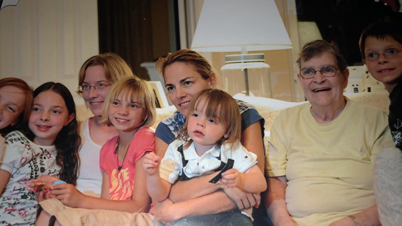 Martha Delehanty poses with her family.