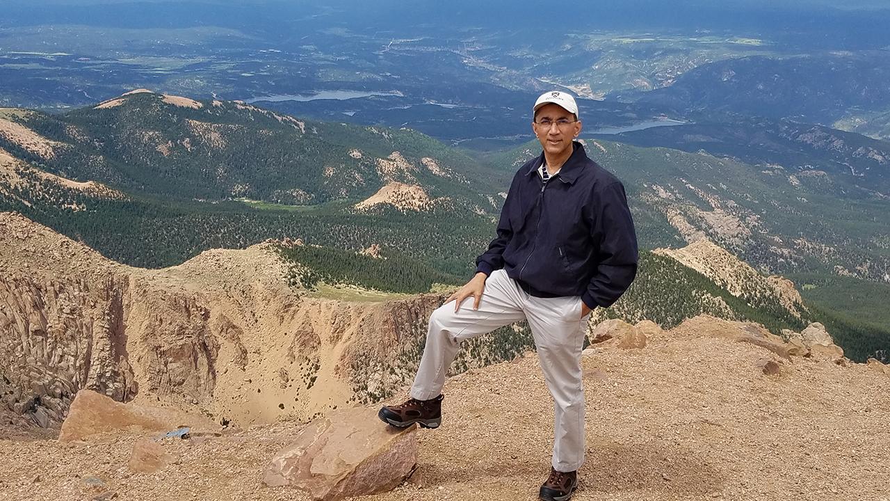 Raj on a mountain