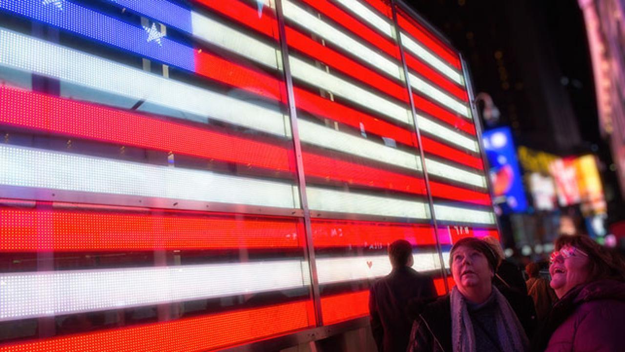 Neon USA flag