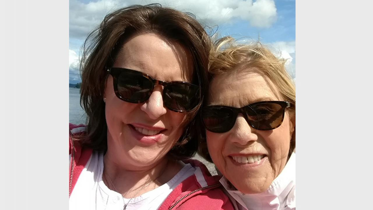 Tami Erwin poses with her mother.