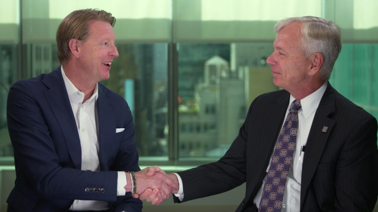 Image of Hans Vestberg and Lowell McAdam.