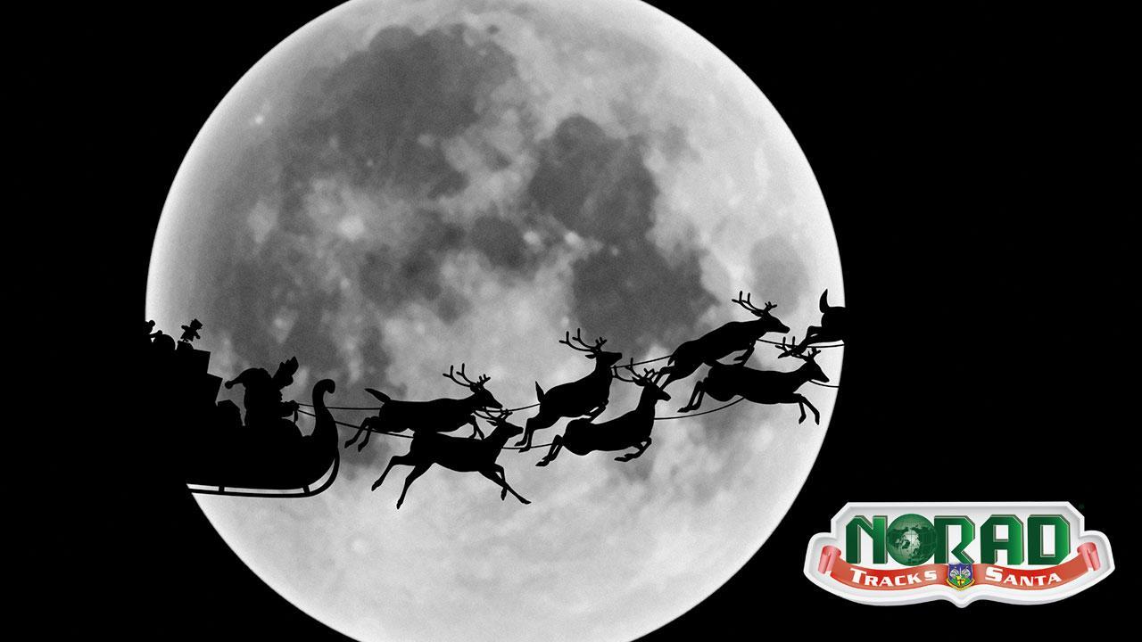 Santa Claus on sleigh