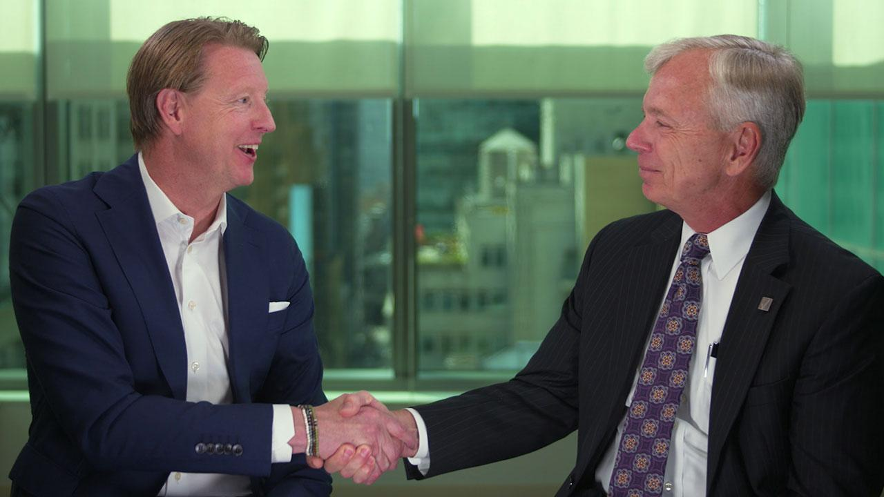 Hans Vestberg and Lowell McAdam