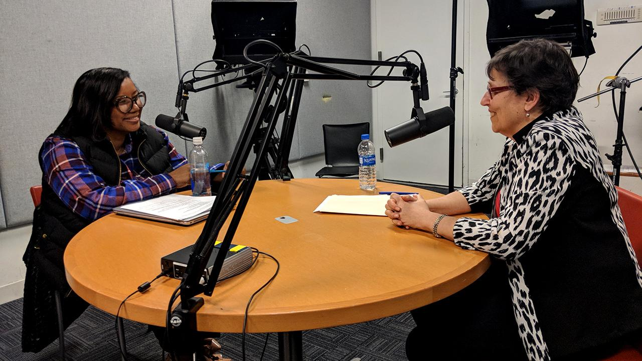 Karen Zacharia, Verizon's chief privacy officer, sits for a podcast