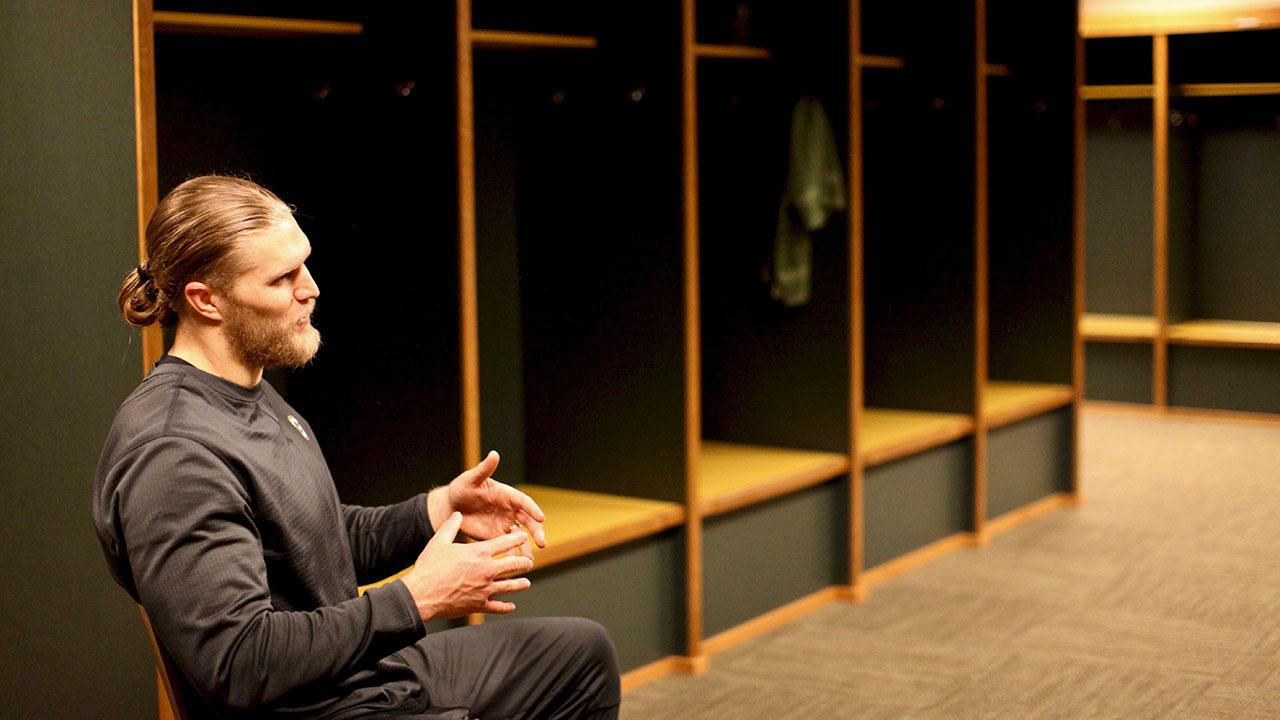 Clay Matthews in locker room